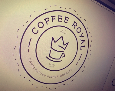 Coffe Royal Logo & Badge Design